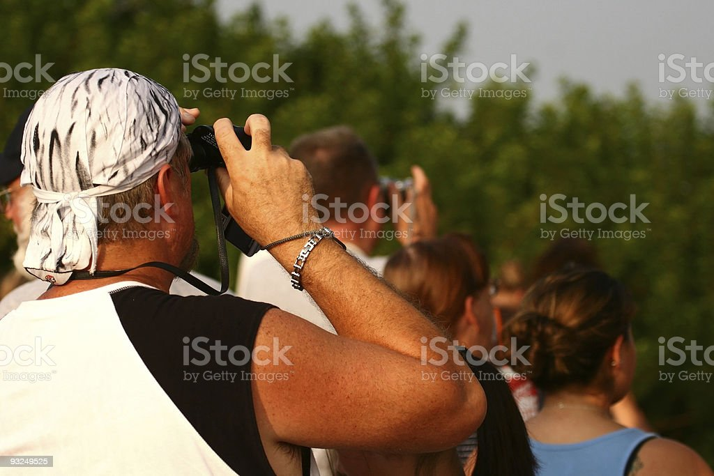 Crowd watching shuttle royalty-free stock photo