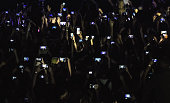 Crowd with smart phones