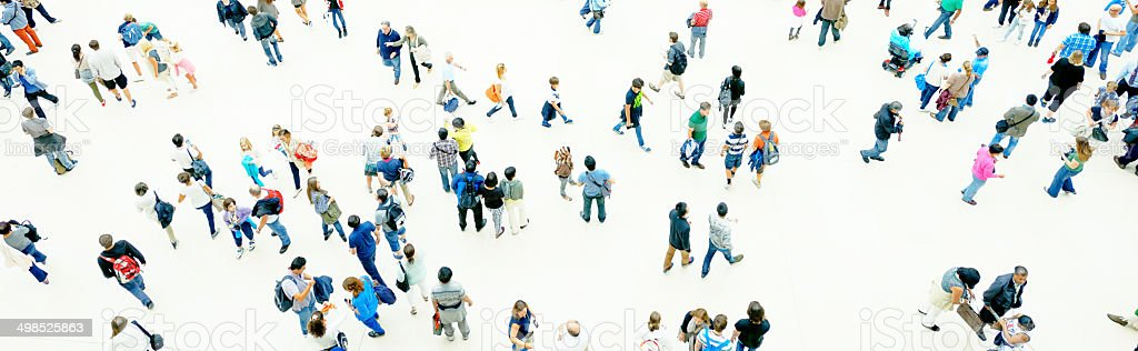 Crowd,Aerial View. stock photo