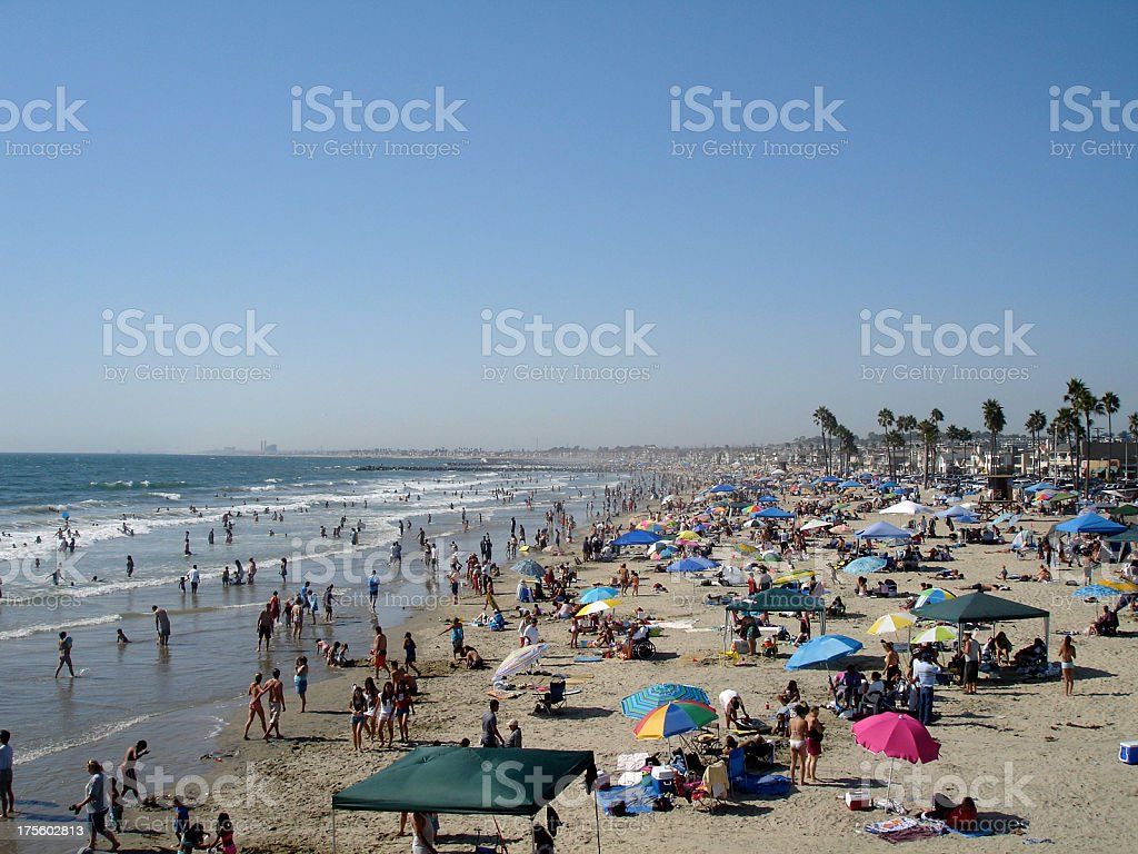 Crowded Beach royalty-free stock photo