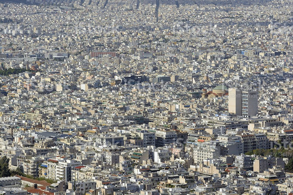 Crowded City - Athens Greece stock photo