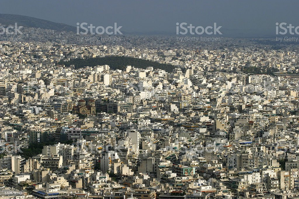 crowded city royalty-free stock photo