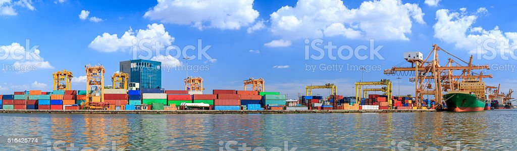 Crowded Containers stock photo