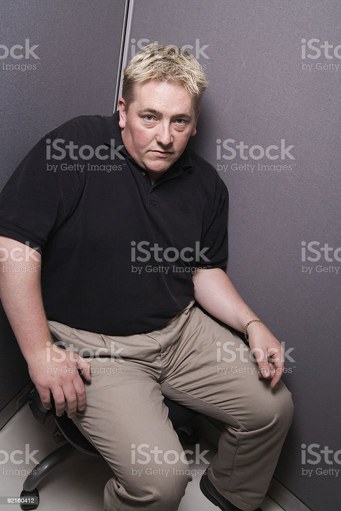 Crowded Cubicle royalty-free stock photo