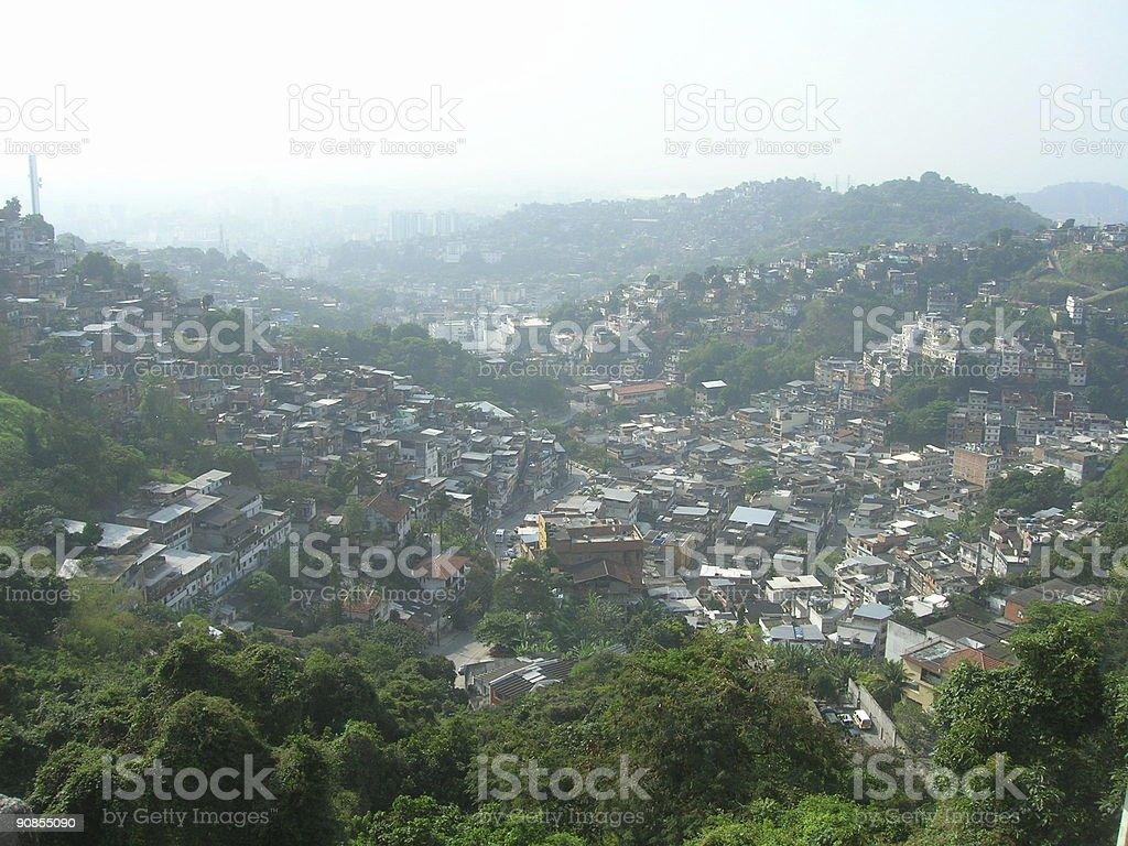 Crowded Hillside royalty-free stock photo