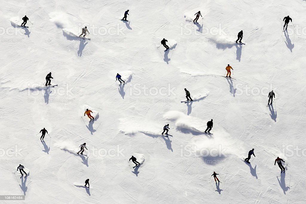 Crowded Holiday stock photo