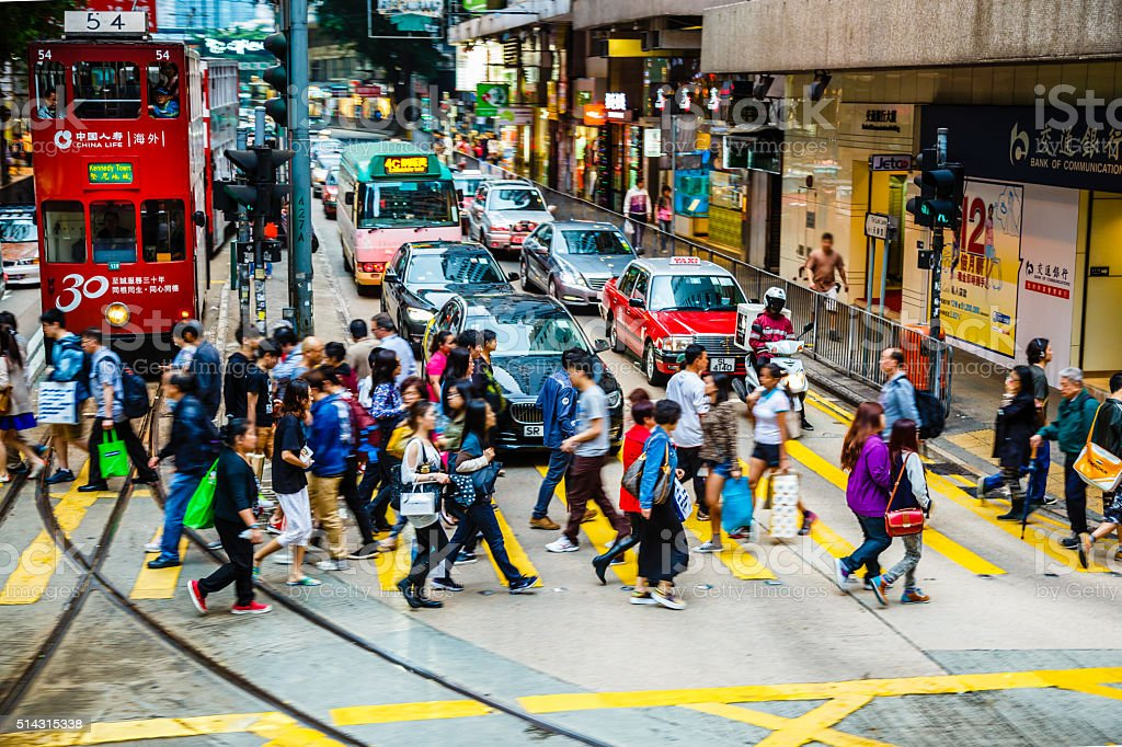 Crowded Hong Kong stock photo