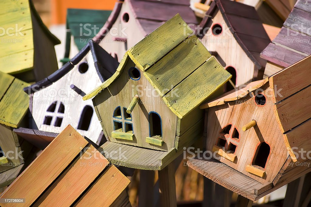 Crowded Houses royalty-free stock photo
