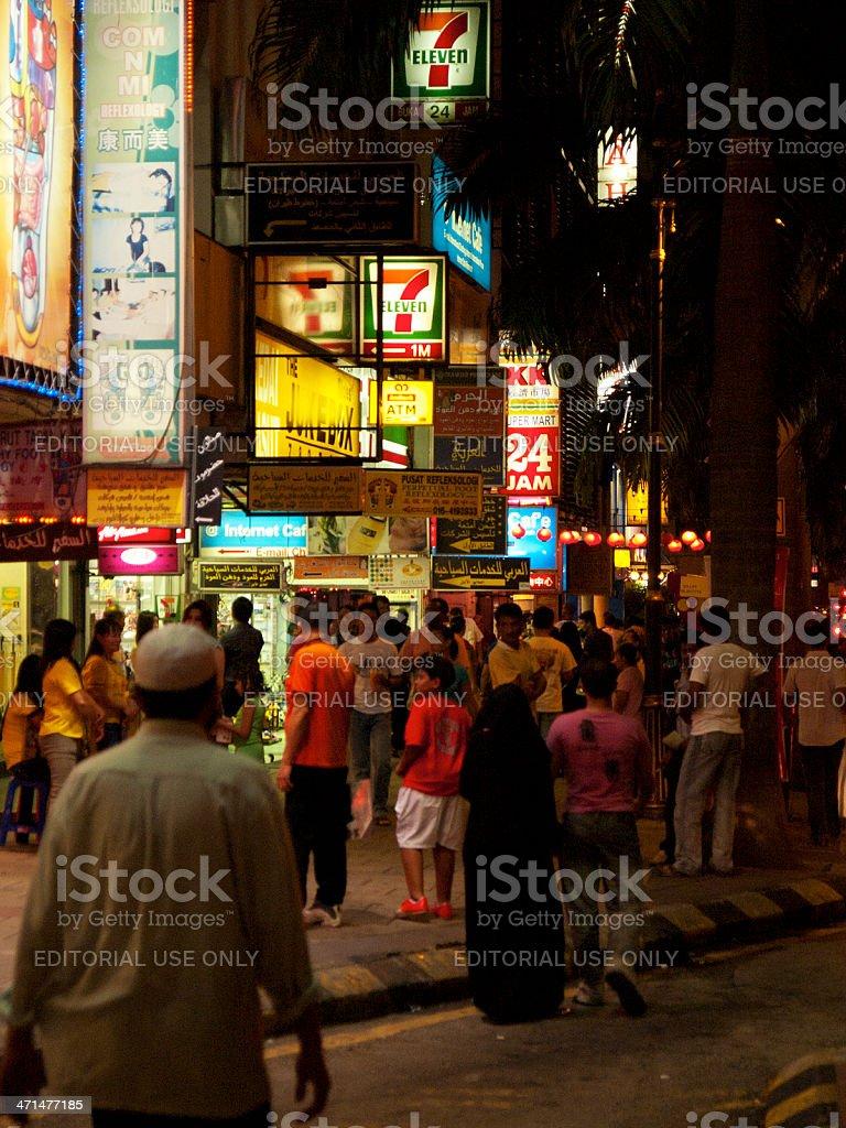 Crowded Kuala Lumpur stock photo