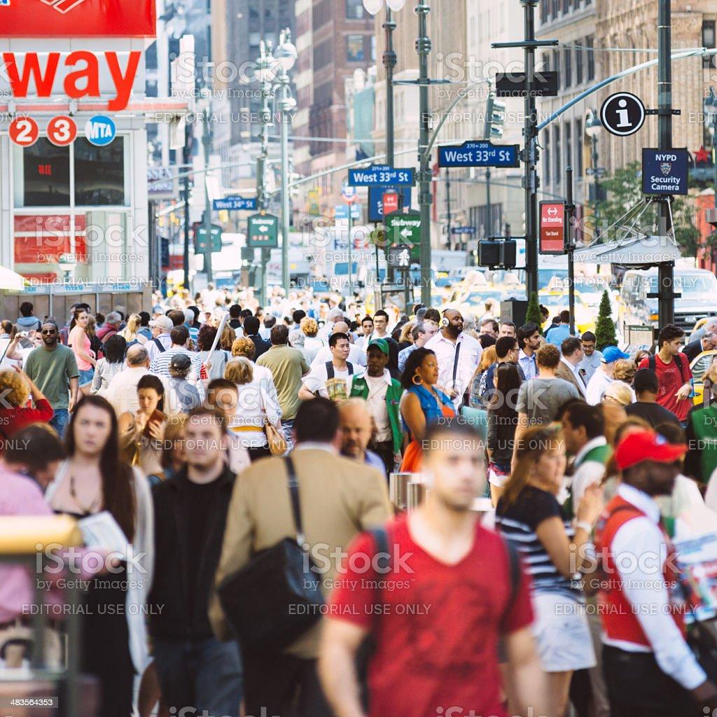 Crowded New York stock photo