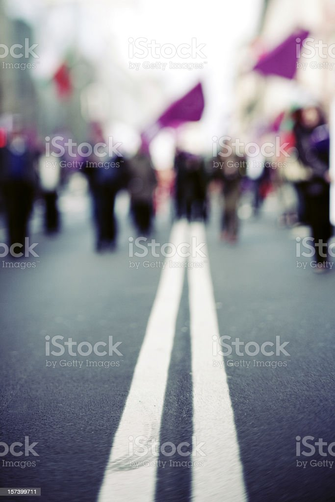 Crowded royalty-free stock photo