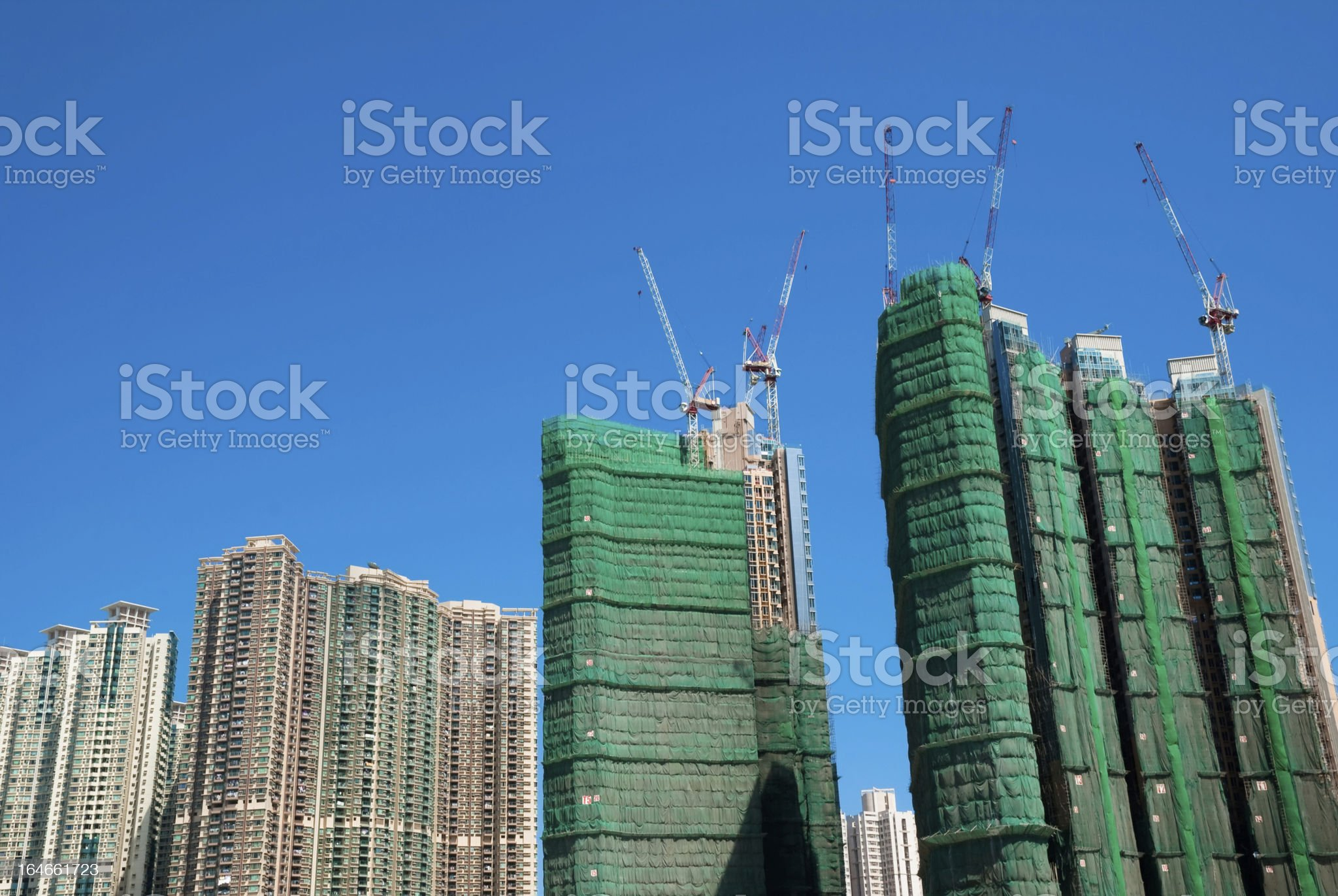 Crowded residential construction royalty-free stock photo