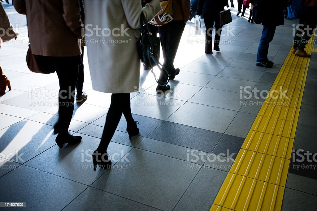 Crowded Shinjuku Station. royalty-free stock photo