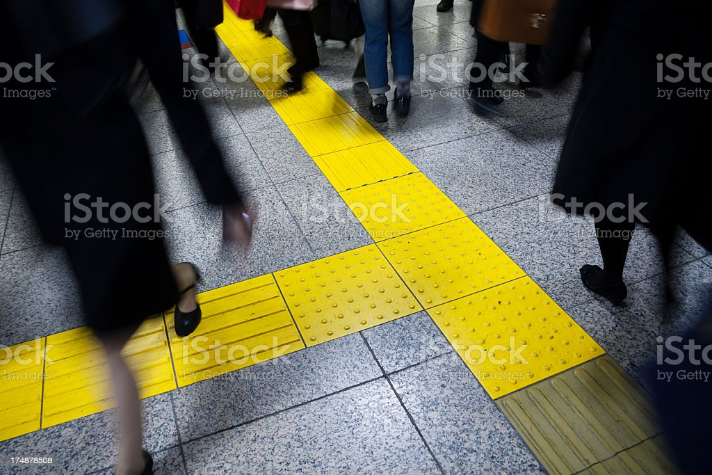 Crowded station stock photo