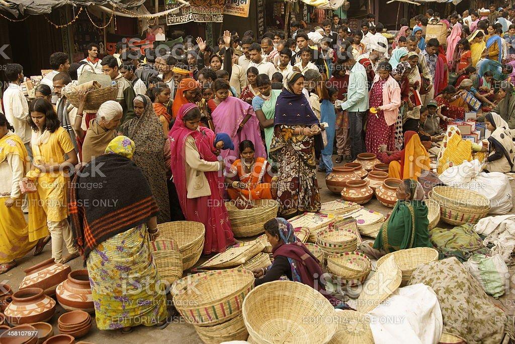 Crowded Street Market royalty-free stock photo