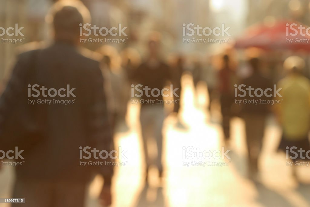 Crowded street stock photo