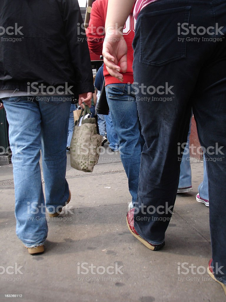 Crowded Street royalty-free stock photo