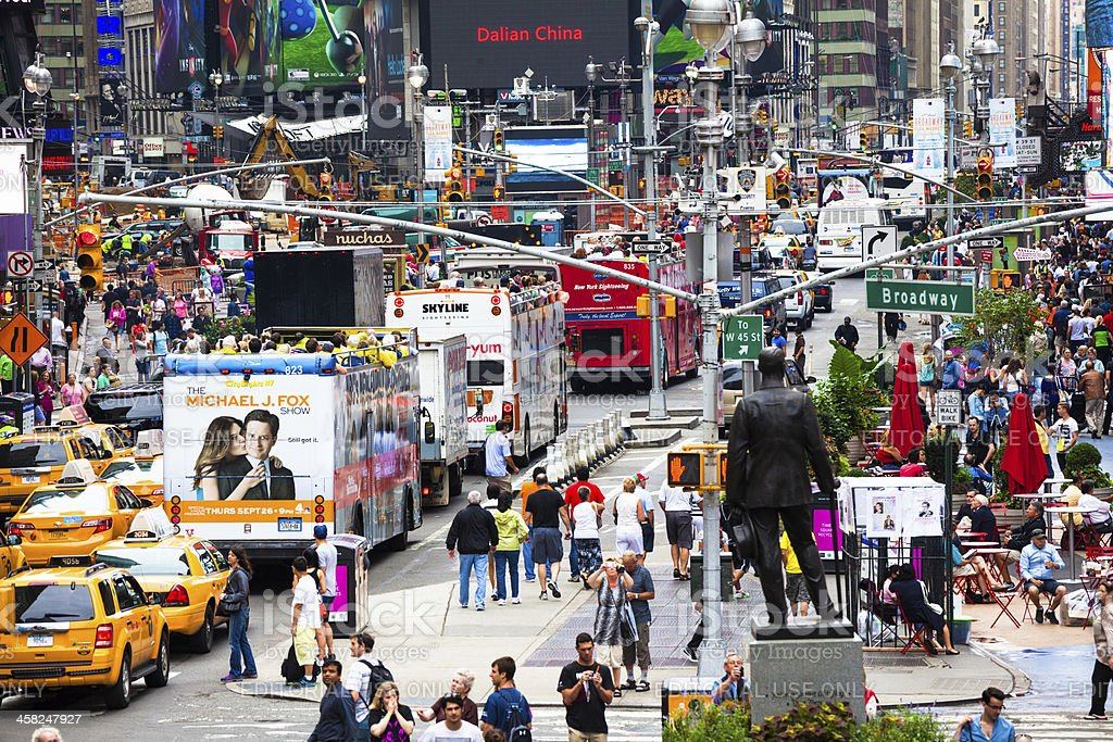 Crowded Times Square in New York City, Manhattan stock photo