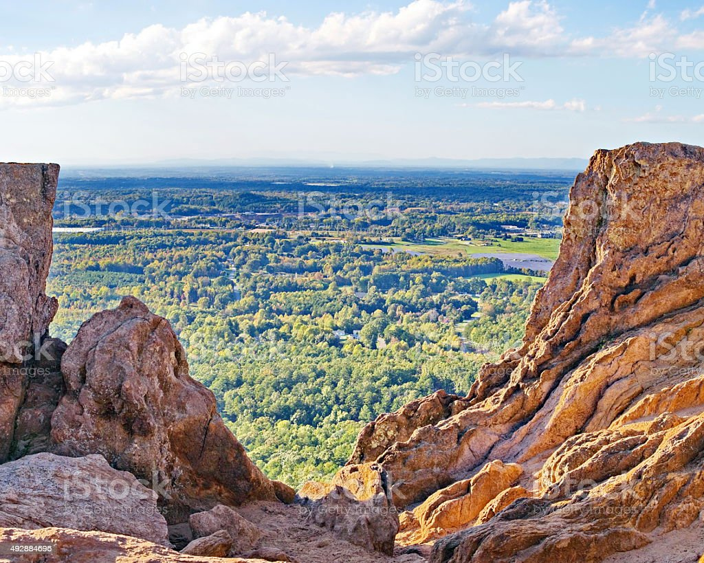 Crowders Mountain Pinnacle Trail October View stock photo