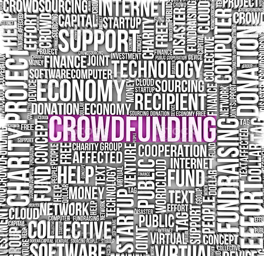 crowdfunding stock photo