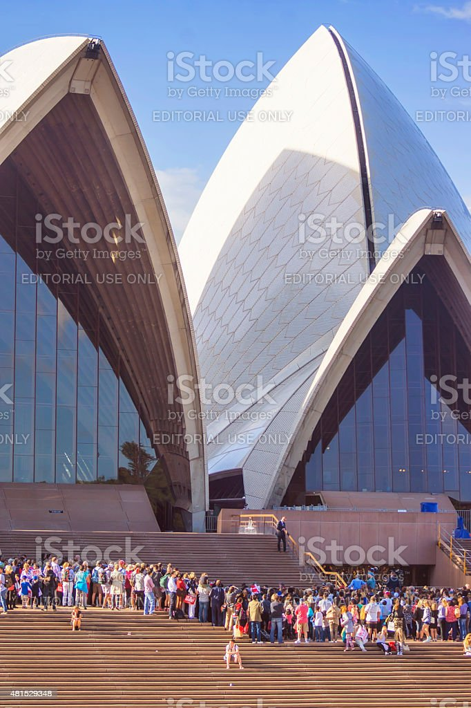 Crowds at Sydney Opera House stock photo