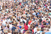 Crowds walking