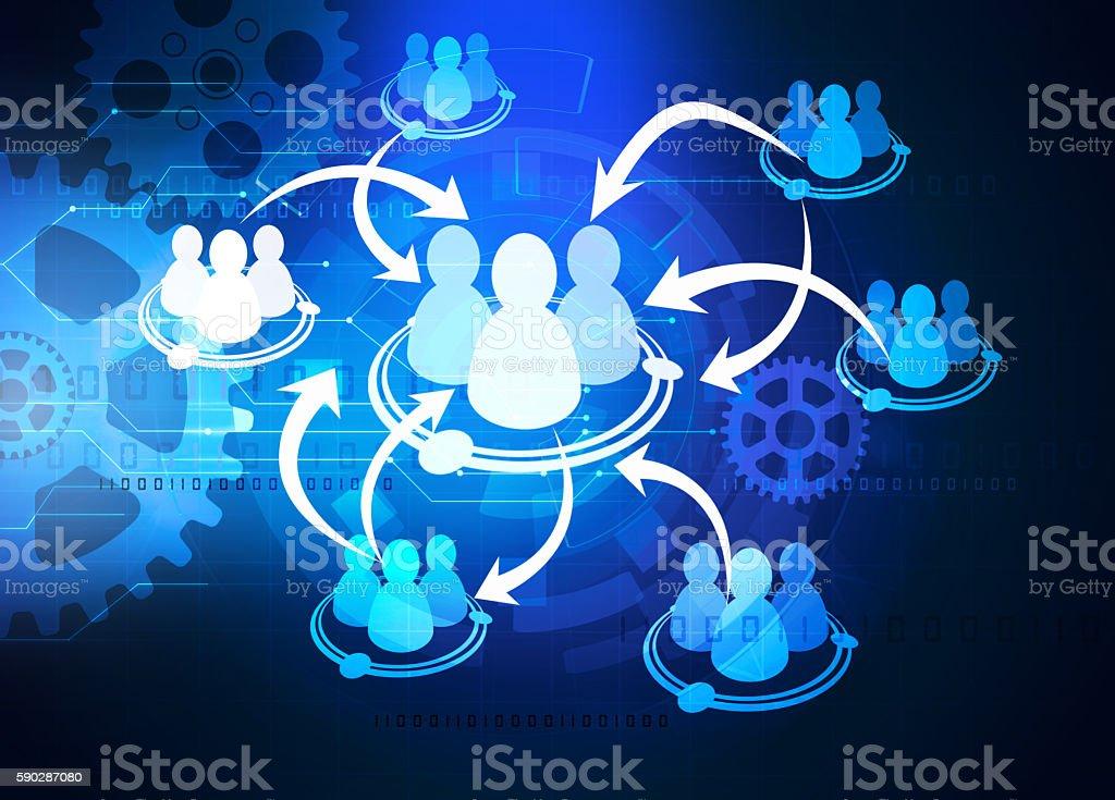 crowdsourcing diagram stock photo