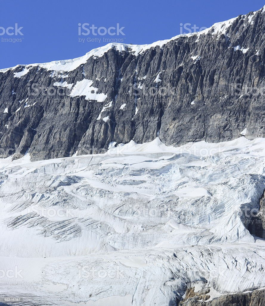 Crowfoot Glacier and Mountain stock photo