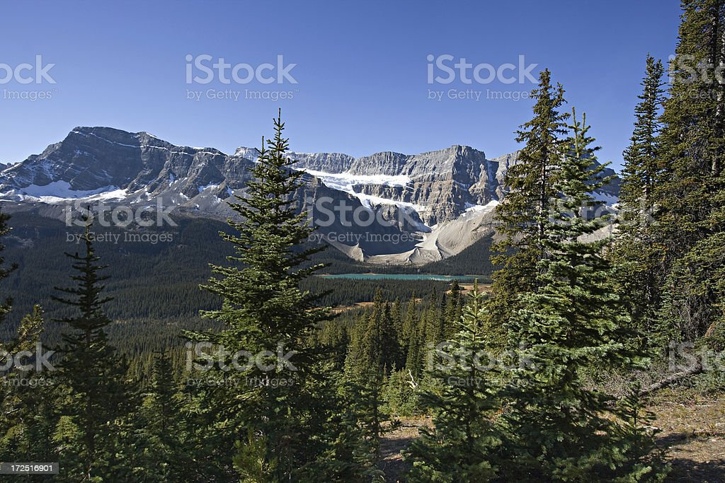 Crowfoot Glacier,  Banff National Park, Alberta stock photo