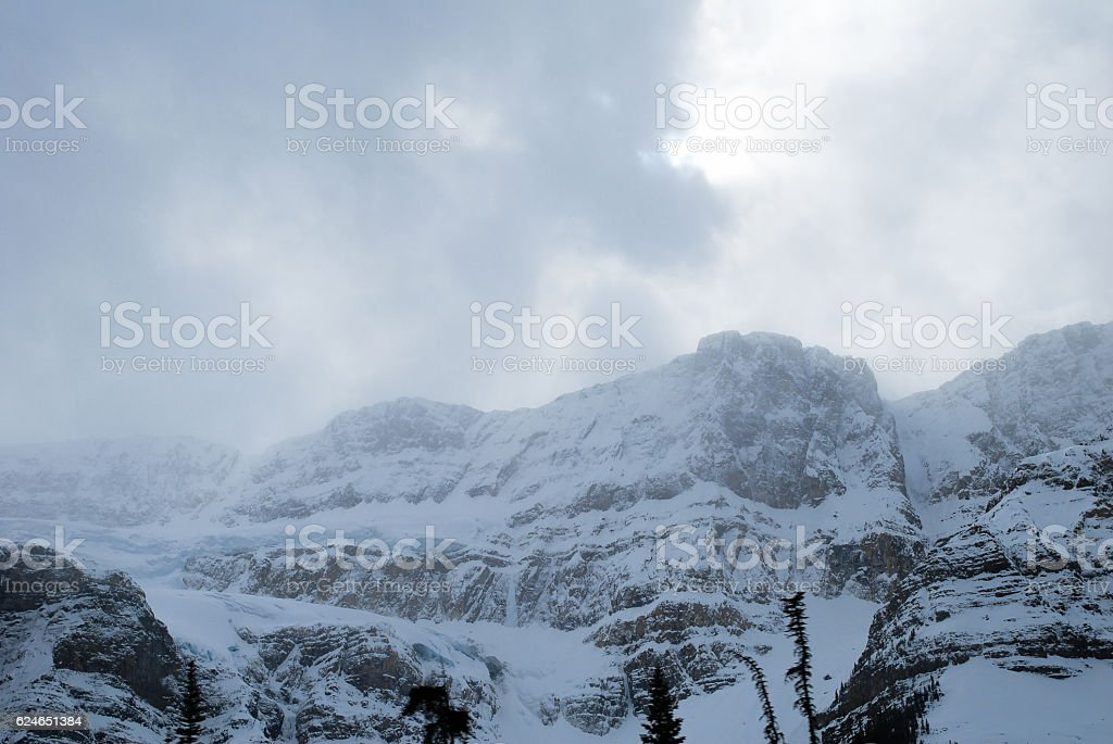 Crowfoot Glacier in Winter, Banff National Park, Canadian Rockies stock photo