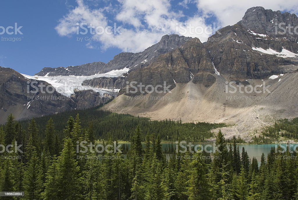 Crowfoot Glacier royalty-free stock photo