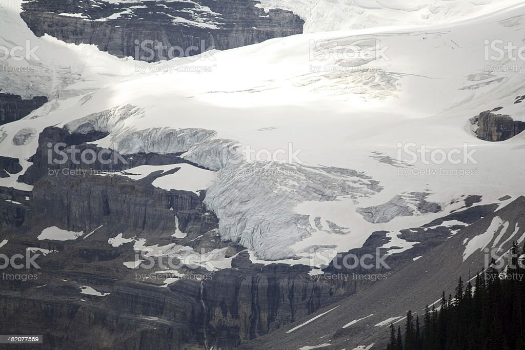 Crowfoot Glacier stock photo