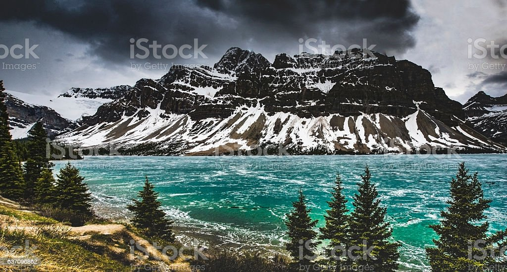 Crowfoot Mountain, Canada stock photo
