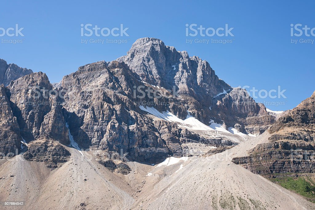 crowfoot mountain in Banff National Park, Alberta, Canada stock photo