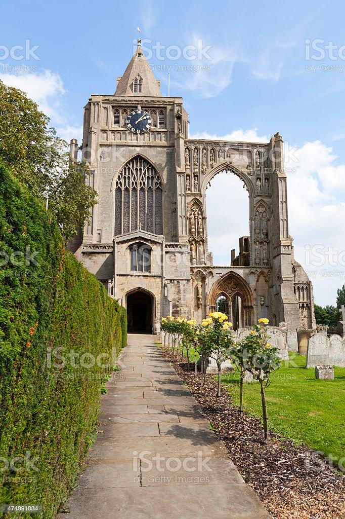 Crowland Abbey stock photo