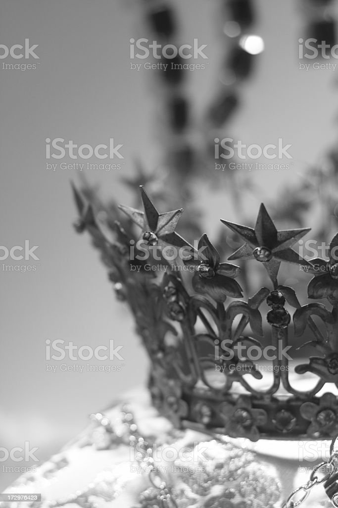 B&W Crown Background royalty-free stock photo