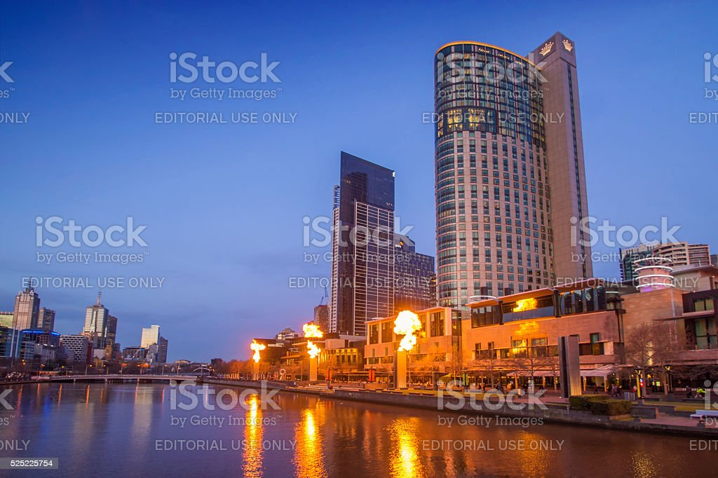 Crown Casino Melbourne stock photo
