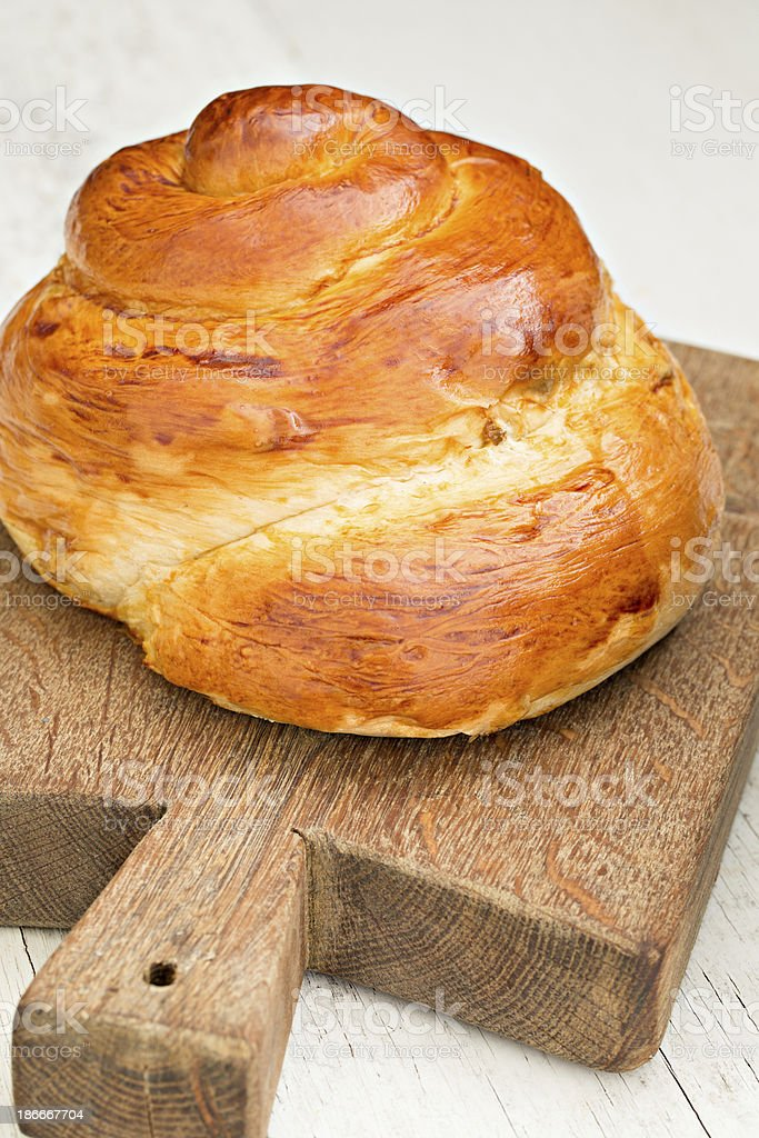 Crown Challah royalty-free stock photo