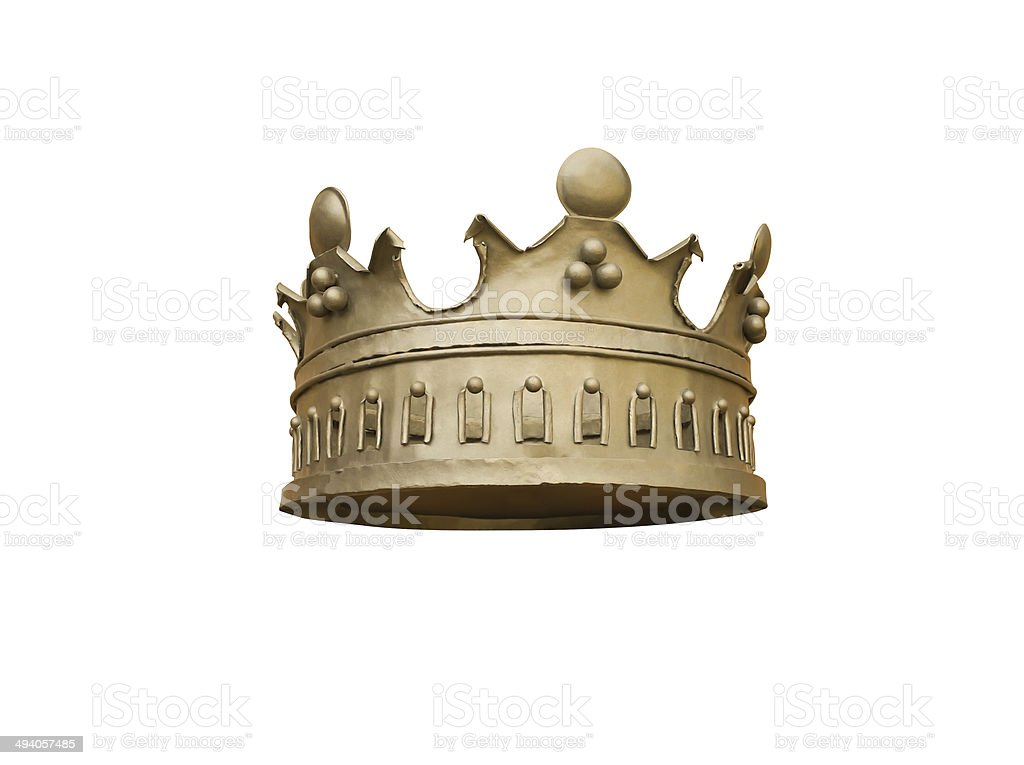 Crown golden stock photo