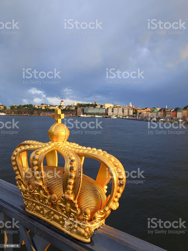 Crown in Stockholm royalty-free stock photo