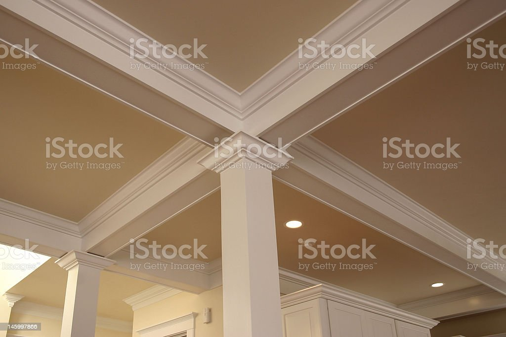crown molding detail stock photo