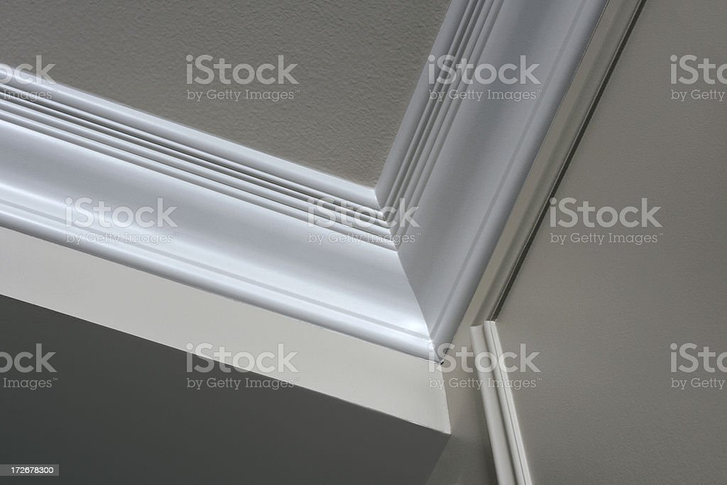 Crown Moulding stock photo