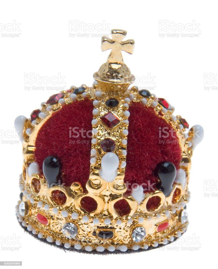 Krone der Königin von Queen Elizabeth II. (Miniatur) stock photo