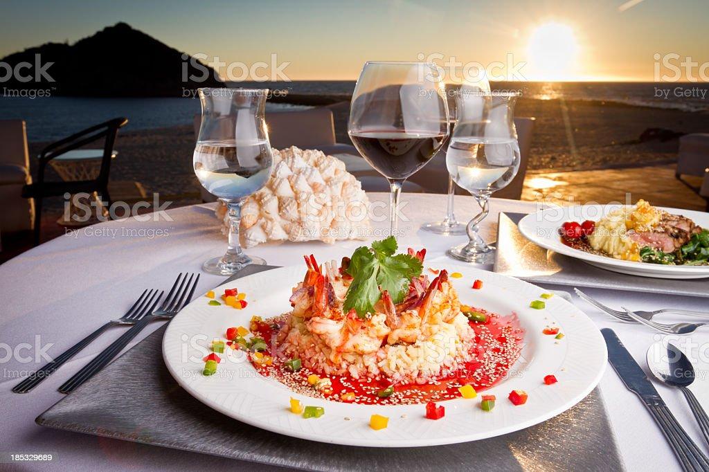 Crown of Shrimp Dinner royalty-free stock photo