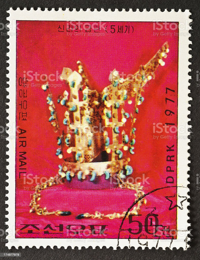 Crown of Silla Stamp royalty-free stock photo