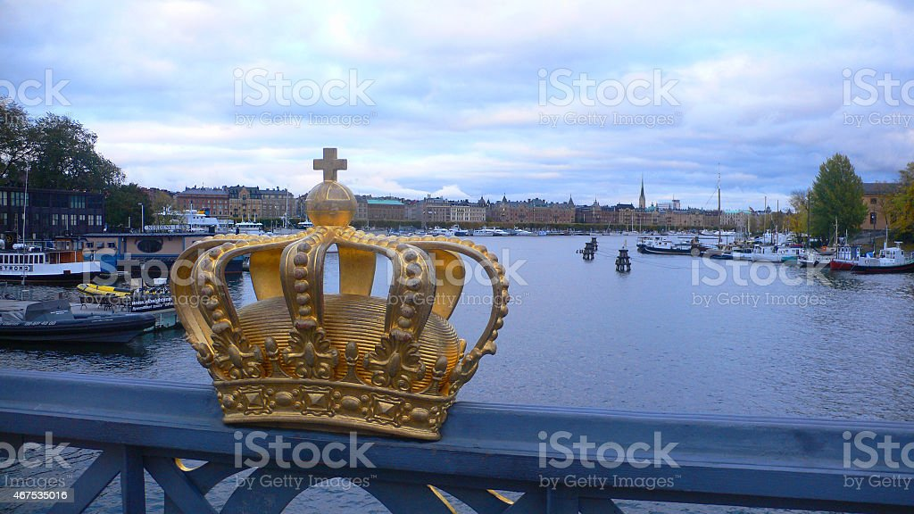 Crown of Stockholm stock photo
