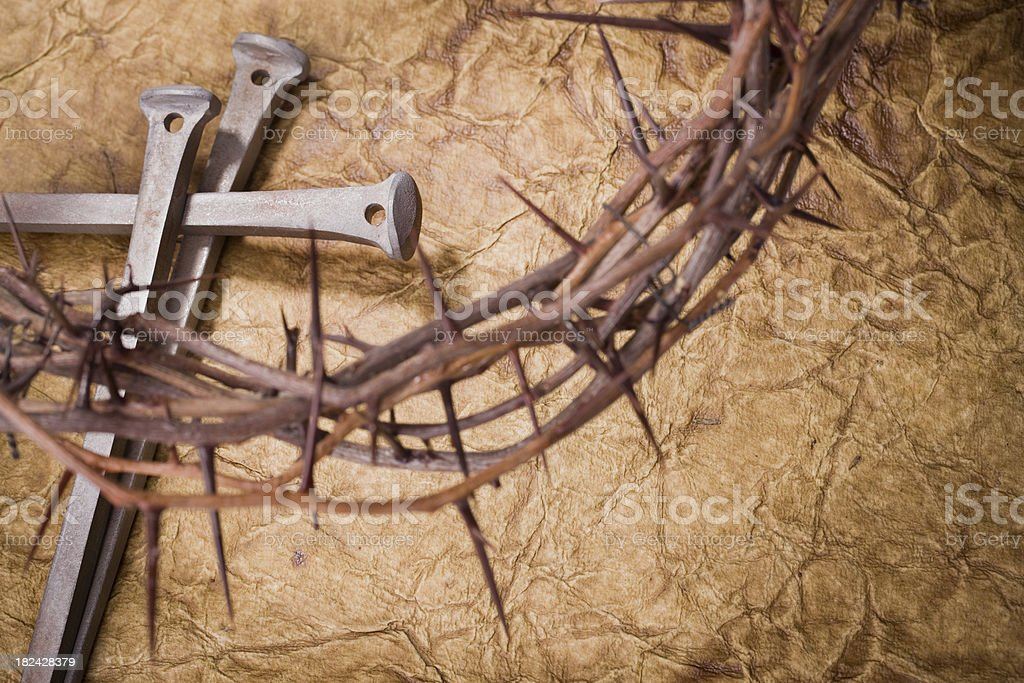 Crown of Thorns and Nails royalty-free stock photo