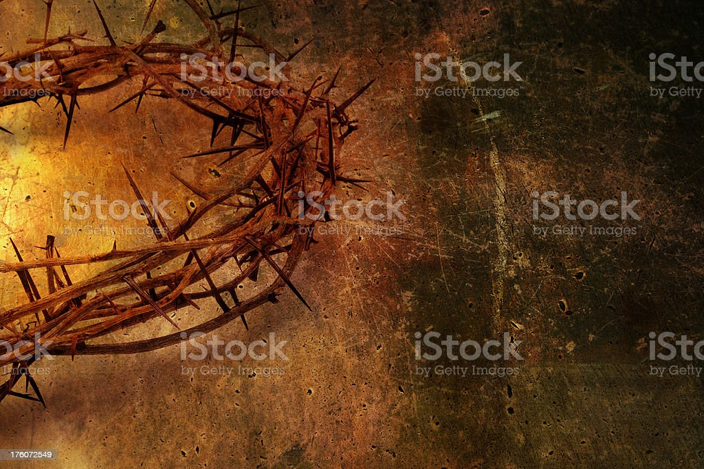 Crown of Thorns Grunge royalty-free stock photo