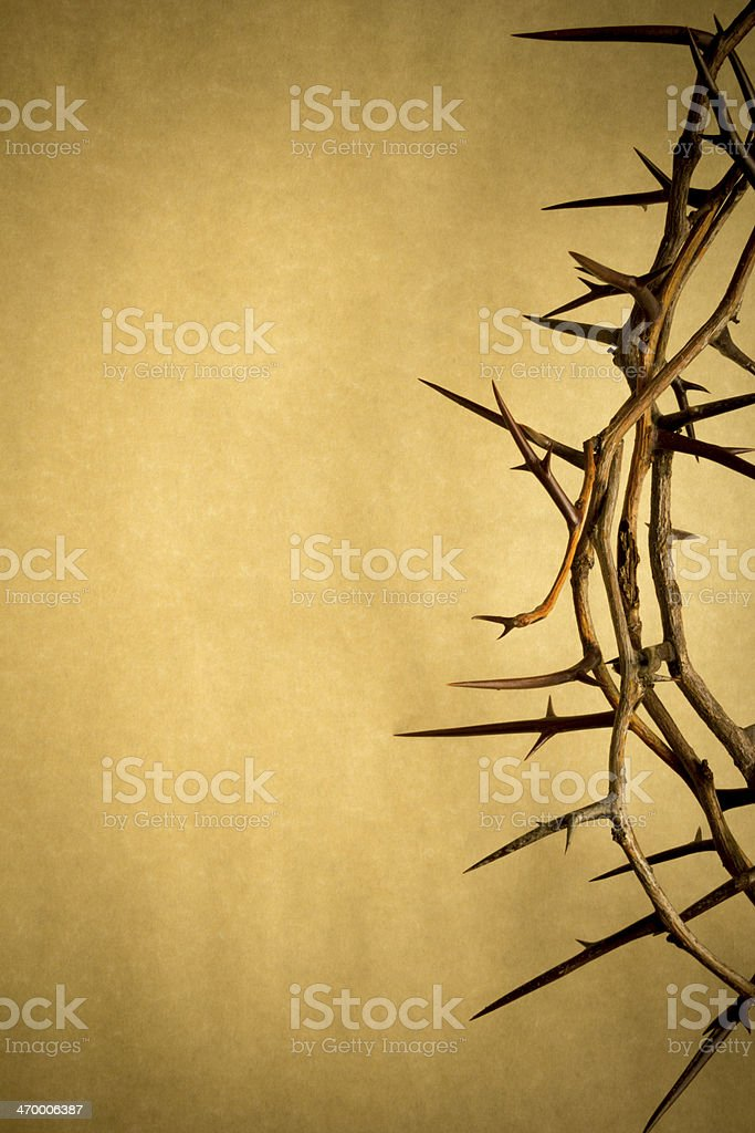 Crown Of Thorns Represents Jesus Crucifixion on Good Friday stock photo