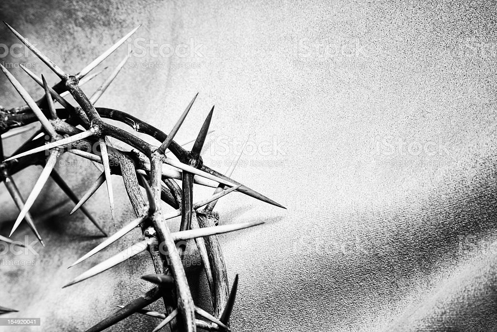 Crown of Thorns with Copyspace stock photo